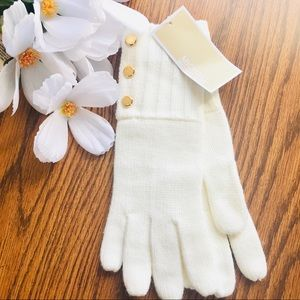Michael Kors Women's Cream Knit Gloves